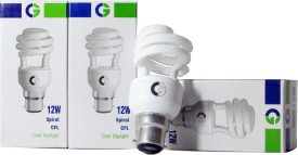 Greaves 12 W Spiral CFL Bulb (Cool Daylight, Pack of 4)