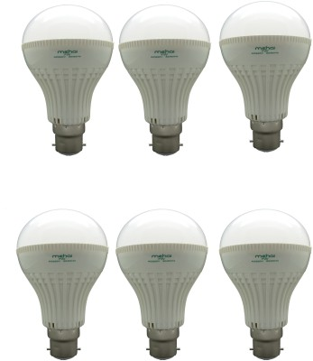 Super Bright 7W LED Bulbs (White, Pack of 6)