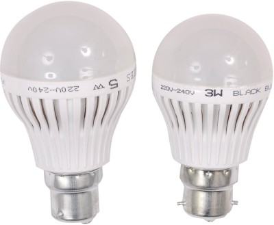 3W,5W B22 LED Bulb (White, Set Of 2)