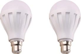 7W-450L-B22-Plastic-LED-Bulb-(White,-Pack-of-2)-