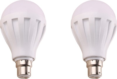 7W-450L-B22-Plastic-LED-Bulb-(White,-Pack-of-2)-