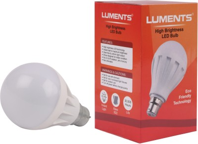 Luments-7W-450L-B22-Plastic-LED-Bulb-(White,-Pack-of-2)