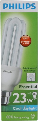 Essential 8 Watt CFL Bulb (Cool Day Light,Pack of 2)