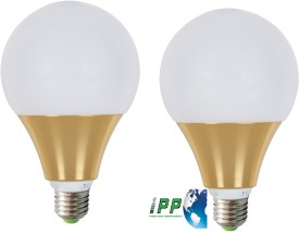 9W E27 Aluminium Body White LED Bulb (Pack of 2)
