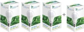 Syska Led Lights 15 W LED 3 Piece Combo + Free 9W Bulb