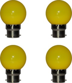 0.5W Yellow LED Bulb (Pack of 4)