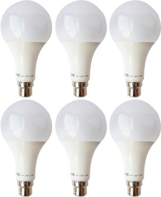 9 W B22 LED Bulb (White, Pack of 6)