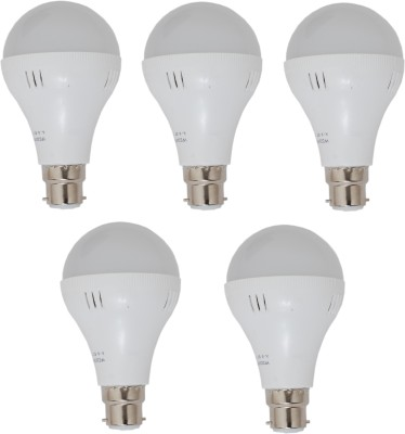 5W LED Bulbs (White, Pack of 5)