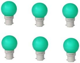 0.5W LED Bulb (Green, Pack of 6)