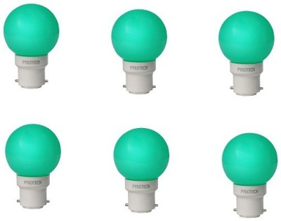 0.5W LED Bulb (Green, Pack of 6)