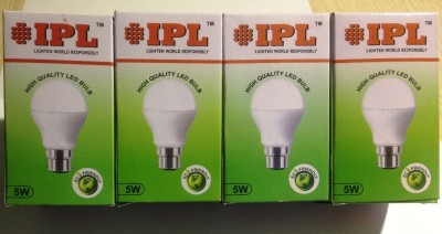 5W B22 LED Bulb (White, Set of 4)