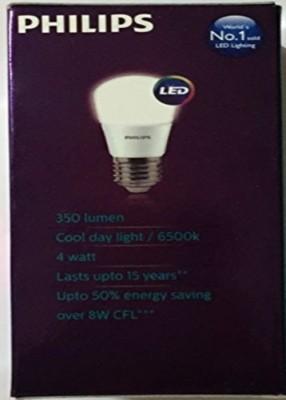 4W E27 350L LED Bulbs (White, Pack of 3)