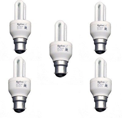 9-W-2U-Lamp-B22-Cap-CFL-Bulb-(Cool-Day-Light,-Pack-of-5)