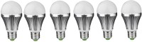 IPP 7 W LED (Set Of 6) E27 7 Watt Long Life - Full Aluminium Body - Superb Design Bulb (White, Pack Of 6)