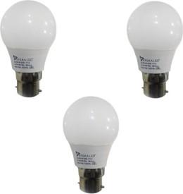 3W B22 LED BULB (White, Pack of 3)
