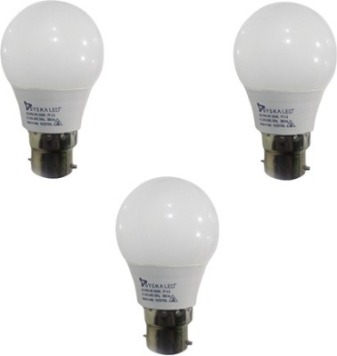 3W B22 LED BULB (White, Pack of 3)