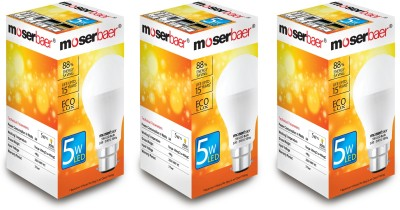 Moserbaer 5 W LED Ecolux 6500K Cool Day Light Bulb Image