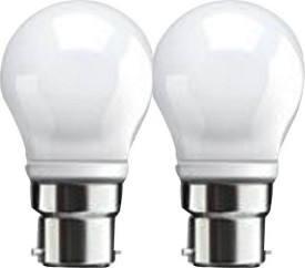 3 W B22 LED Bulb (White, Pack of 2)