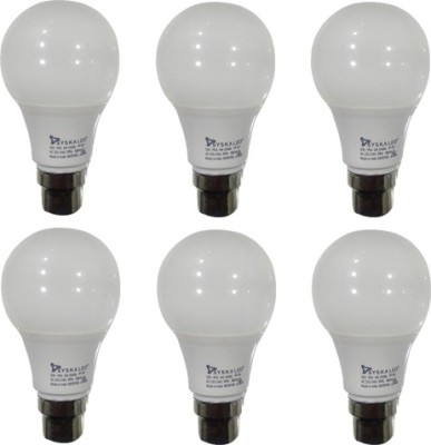 5W LED Bulbs (White, Pack of 6)