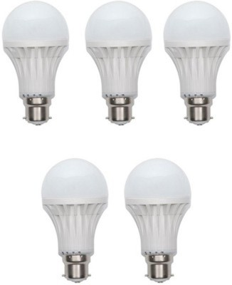 15W Plastic 450 Lumens White LED Bulb (Pack Of 5)
