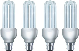 B22 35W CFL Bulb (White, Pack of 4)