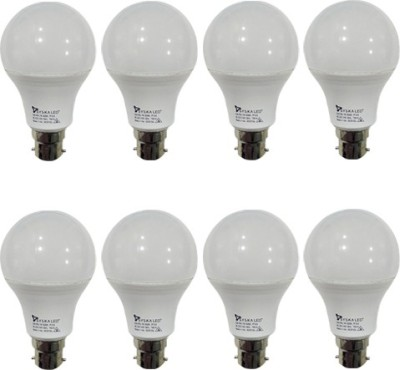 7-W-B22-PAG-LED-Bulb-(White,-Plastic,-Pack-of-8)