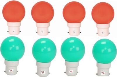0.5W-Multicolour-LED-Light-(Pack-Of-8)-