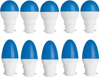 0.5W-Plastic-Body-Blue-Round-and-Candel-LED-Bulb-(Pack-of-10)