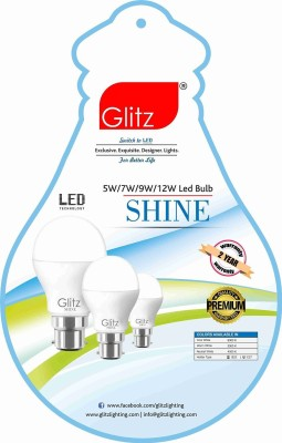 Glitz-12W-B22-90L-LED-Bulb-(Cool-White,-Pack-of-4)