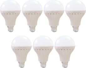 9W B22 LED Bulb (White, Set of 7)