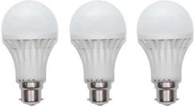 12W Plastic 450 Lumens White LED Bulb (Pack Of 3)