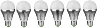 IPP 3 W LED (Set Of 6) E27 3 Watt Long Life - Full Aluminium Body - Superb Design Bulb (White, Pack Of 6)