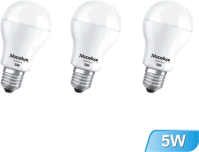 5W Cool Day Light E27 Base LED Bulbs (Pack Of 3)