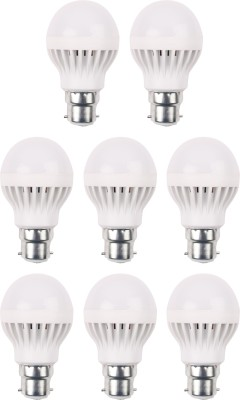 3W 460 Lumens White Eco LED Bulbs (Pack Of 8)