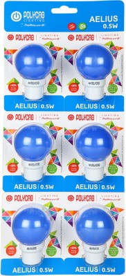 0.5 W LED Eco Friendly1 Bulb (Blue, Pack of 6)