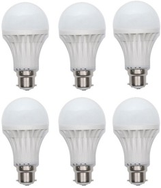 3W Led Bulb (White, Set of 6)