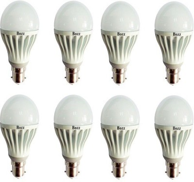 7W B22 LED Bulb (White, Pack of 8)