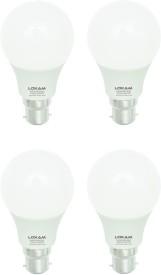 5W B22 LED Bulb (Cool White, Pack of 4)