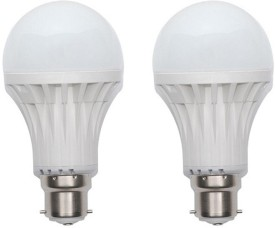 12W Plastic 450 Lumens White LED Bulb (Pack Of 2)