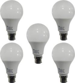 9 W B22 PAG LED Bulb (White ,Plastic, Pack of 5)