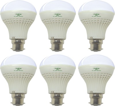 Super Bright 9W LED Bulb (White, Pack of 6)