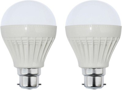 7W Plastic White LED Bulb (Pack Of 2)
