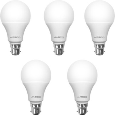 5W B22 LED Bulb (White, Pack of 5)