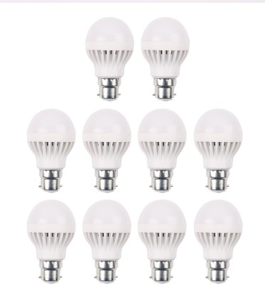 5W-450L-B22-Plastic-LED-Bulb-(White,-Pack-Of-10)-