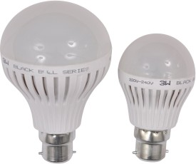 3W,9W-B22-LED-Bulb-(White,-Set-Of-2)