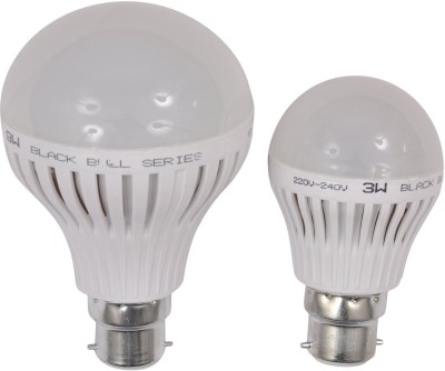 3W,9W B22 LED Bulb (White, Set Of 2)