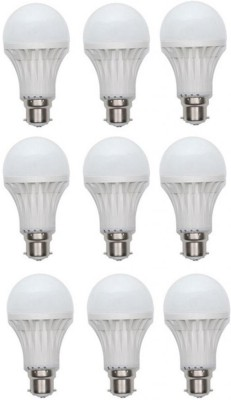 Inddus-5-W-LED-Bulb-B22-White-(pack-of-9)