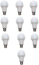 7W LED Bulb (White, Pack of 10)