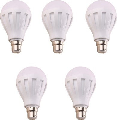 7W-450L-B22-Plastic-LED-Bulb-(White,-Pack-of-5)-