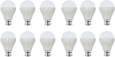 5 W LED Cool Day Bulb B22 White (pack of 12)